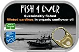 Fish 4 Ever Sardine Fillets In Organic Sunflower Oil 90g (Pack of 4)