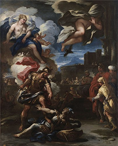 Oil Painting 'Giordano Luca Turno Vencido Por Eneas 1688', 20 x 25 inch / 51 x 63 cm , on High Definition HD canvas prints is for Gifts And Bed - Peter Jones Sunglasses