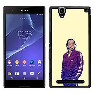 GIFT CHOICE / SmartPhone Carcasa Teléfono móvil Funda de protección Duro Caso Case para Sony Xperia T2 Ultra /GOT BRONN/