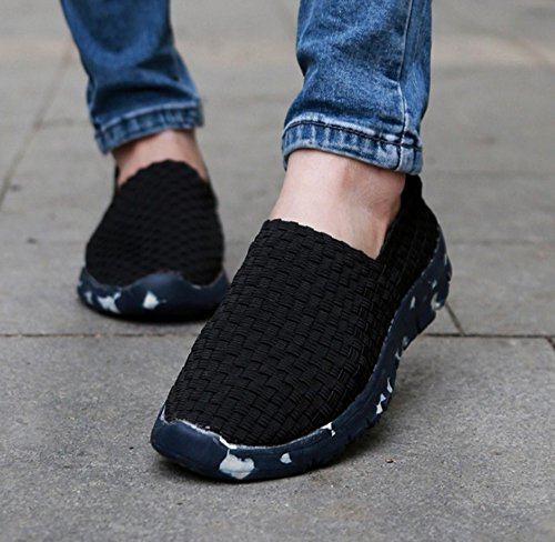 Casual 2018 Fashion amp; Unisex New Woven Hand Shoes Women's Sport Men's Black Shoes Ur8qU