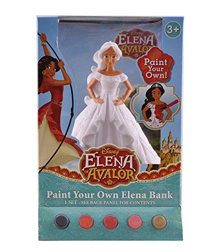 Figural Bank (Disney Elena Figural Coin Bank, Unpainted, 10