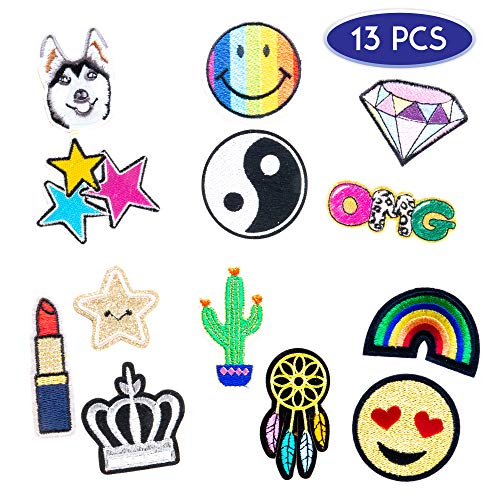 (Decal Stickers for Laptop, iPhone, Computer, Car, Wall 13 PCs Pack - Embroidered Adhesive Decals Sticker Set for Women and Girls - Great as Party Favors, Stocking Stuffers)