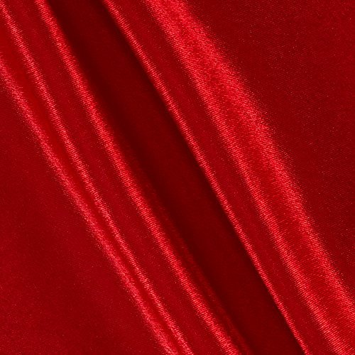 (Richland Textiles Poly Crepeback Satin Red Fabric by The Yard,)