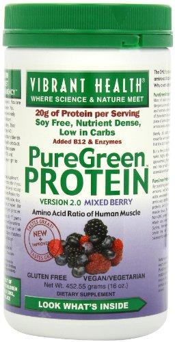 Vibrant Protein Santé puregreen, Berry mixte, 16-Onces