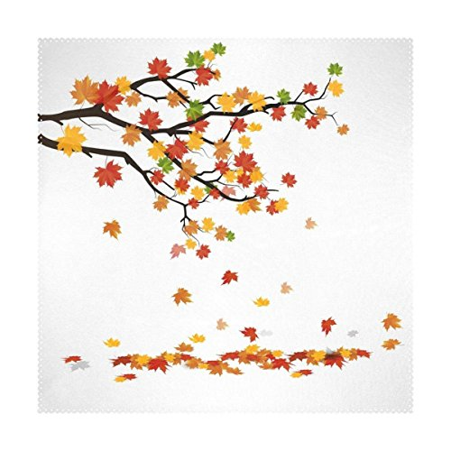 Lovexue Autumn Branch Falling Leaves Placemats Table Place Mat Kitchen Dining Room Polyester 12 x 12 inches Set of 4