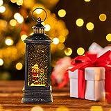 IIDEE Christmas Snow Globe Lantern, Xmas Water
