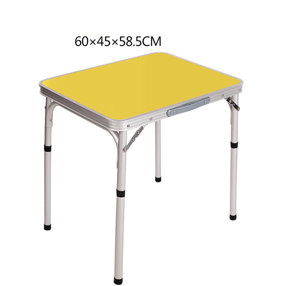 Tables YNN Bedside Folding Outdoor Campsite 604558.5cm Portable Aluminum Alloy Exhibition Picnic Study Simple (Color : Purple)
