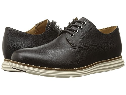 Cole Haan Men's Original Grand Plain Toe, Dark Roast Leather/Ivory, 10.5 Medium US