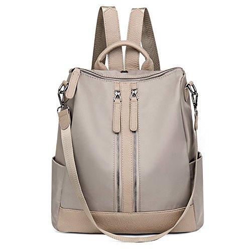 Khaki Women Backpacks Purse Nylon Casual Lightweight Packback Daypack For Girls Cycling Hiking Camping Travel (Casual Chic Handbag)