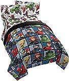 Jay Franco Marvel Avengers Team 5 Piece Full Bed Set - Includes Comforter & Sheet Set - Super Soft Fade Resistant…