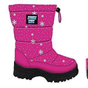Storm Kidz Girls Cold Weather Snow Boot Puffy (Toddler/Little Kid/Big Kid) Many Colors