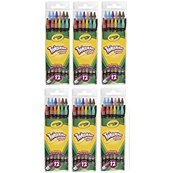 Crayola Twistables Colored Pencils, No Sharpening Needed, 12 Count (Pack of 6) Total 72 Pencils