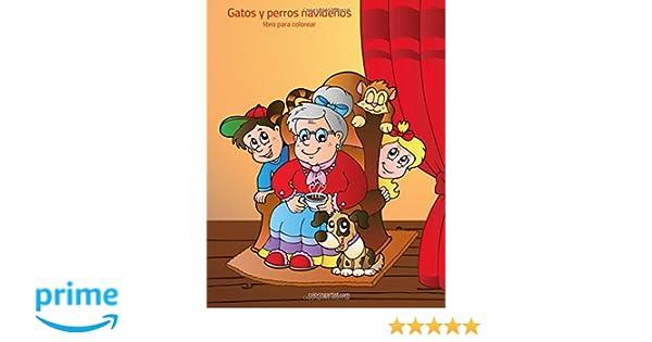 Gatos y perros navideños libro para colorear 1 (Volume 1) (Spanish Edition): Nick Snels: 9781983438974: Amazon.com: Books