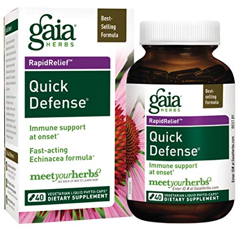 (Gaia Herbs Quick Defense Liquid Phyto-Capsules, 40 Count)
