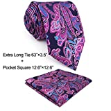 Shlax & Wing Neckties Ties Paisley Blue Pink Men's Accessories Silk