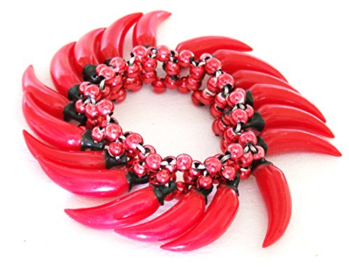 Hot Chili Pepper #2 Bracelet Halloween Mardi Gras Spring Break Cajun Carnival Festival New (Chili Pepper Bead)