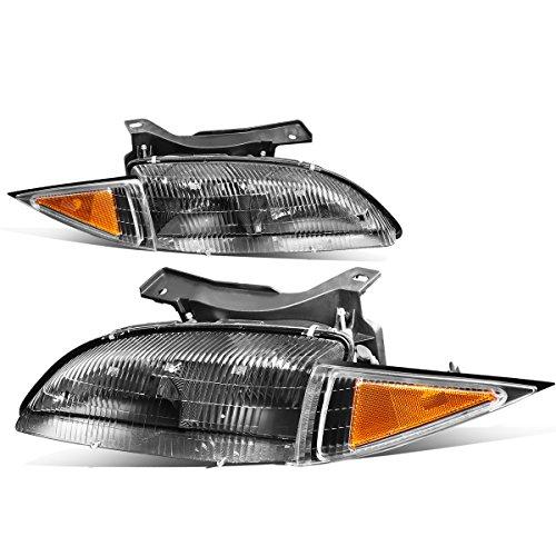 For Chevy Cavalier Pair Black Housing Amber Corner Bumper Driving Headlight/Lamps ()