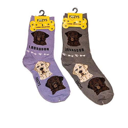 Foozys Unisex Crew Socks | Canine/Dog Collection | Labrador