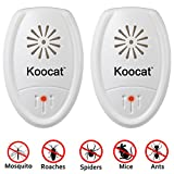 Set of 2 Koocat Ultrasonic Pest Repeller for Insects, Rodents, Mice, Rats, Ants, Spiders, Cockroaches, Bug, Premium Pest Control Repellent, Uses the L
