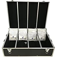 CheckOutStore Black Aluminum CD/DVD Hanging Sleeves Storage Box (Holds 1000 Discs)