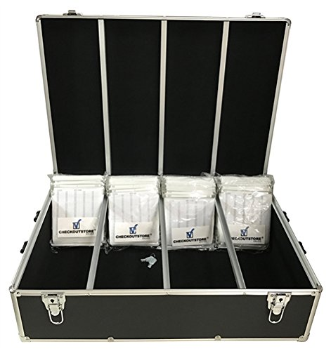 CheckOutStore Black Aluminum CD/DVD Hanging Sleeves Storage Box (Holds 1000 Discs) ()
