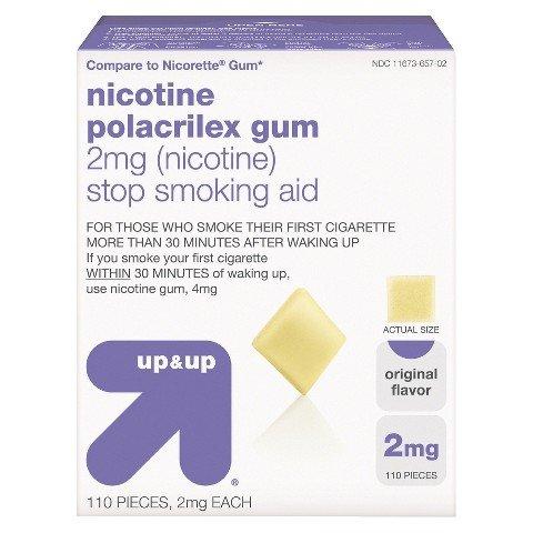 up&up Nicotine Polacrilex 2mg Original Gum - 110 Count