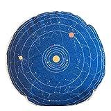 Retro Home/Office Sofa Round Cushion Circular Chair Cushion Pillow Seat Pad,The Solar System