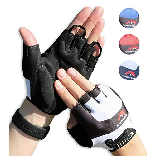 Half Finger Cycling Bike Sports Gloves with Silicone Gel Pad For Child// Women