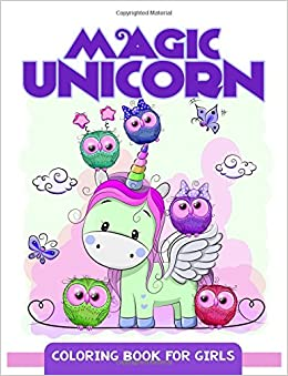magic unicorn coloring book for girls cute unicorn pattern for kids and girls amazoncouk mindfulness coloring artist 9781546567585 books