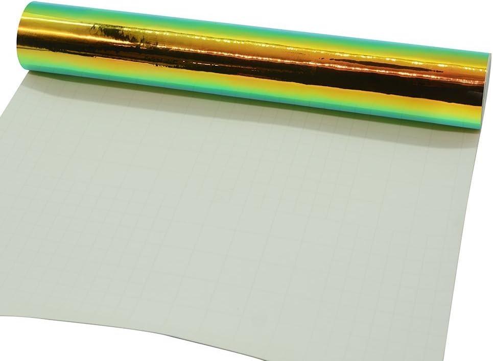 Holográfica Chrome Craft hoja de Vinilo Para Silhouette Cameo, Craft moldes, señal de tinta 1 x 5ft: Amazon.es: Juguetes y juegos