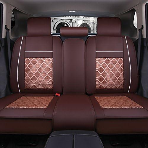 Cubiertas de asiento de coche de conjunto completo cl/ásico negro//caf/é//Beige Color-Fit mayor/ía de coche cami/ón Airbag compatible y banco dividido SUV o Van caf/é, Est/ándar
