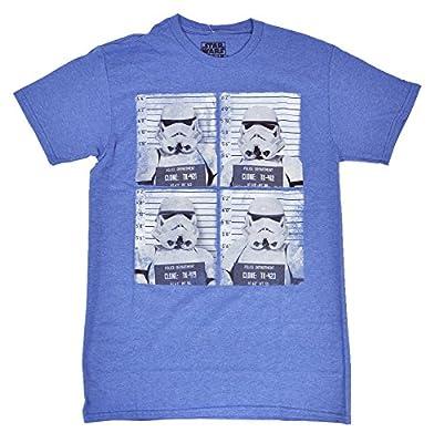 Star Wars Mens Stormtrooper Lineup Heathered T-Shirt