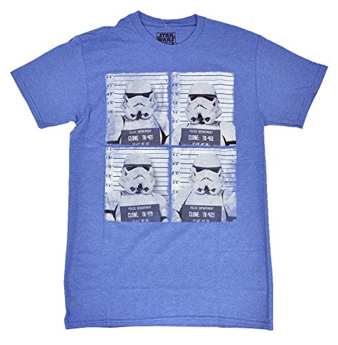 [Star Wars Mens Stormtrooper Lineup Heathered T-Shirt (X-Large)] (Stormtrooper Disney)