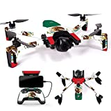 MightySkins Skin for Parrot Anafi Drone – Mexican Flag   Protective, Durable, and Unique Vinyl Decal wrap Cover   Easy to Apply, Remove, and Change Styles   Made in The USA Review
