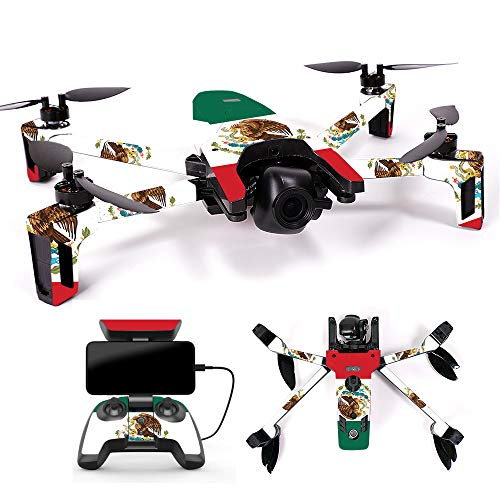 MightySkins Skin for Parrot Anafi Drone - Mexican Flag | Protective, Durable, and Unique Vinyl Decal wrap Cover | Easy to Apply, Remove, and Change Styles | Made in The USA