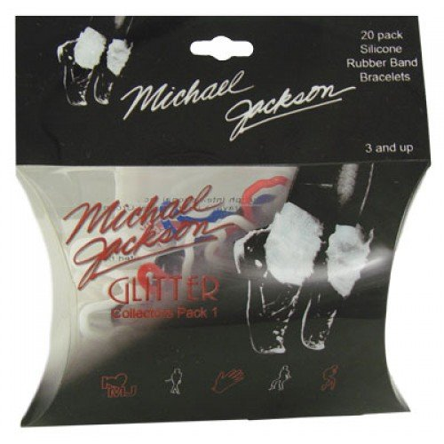 Glitter Michael Jackson Silly Bands 20ct Rubber Bandz Collection Pack 1