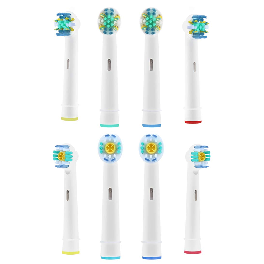 Toothbrush Replacement Heads for Braun Oral B Professional Care Triumph Vitality  Floss Action & 3D White  Remove Plaque and Teeth Whitening, Variety 8 Count by Lanveda