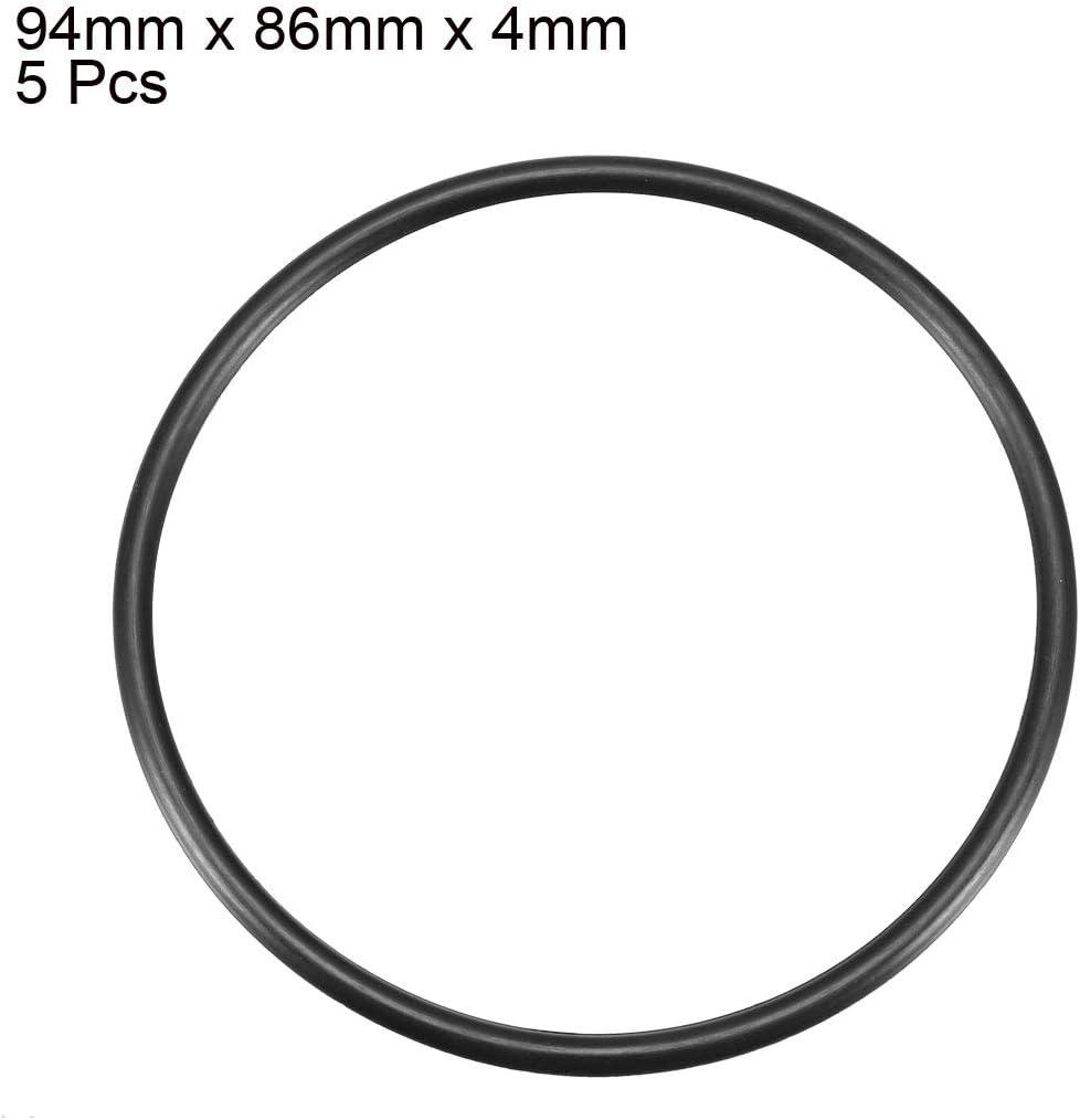 sourcing map 5uds Negro de 94mm X 86mm X 4mm Junta T/órica de Estanqueidad Resistente a Aceite de Caucho de Nitrilo Nbr