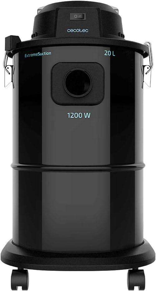 Cecotec Aspirador Cenizas Pellet Conga Popstar 12200 Ash. Boquilla Aluminio, Tubo de aspiración con Revestimiento metálico, Potencia 1200 W, Depósito Acero, Capacidad 20 litros