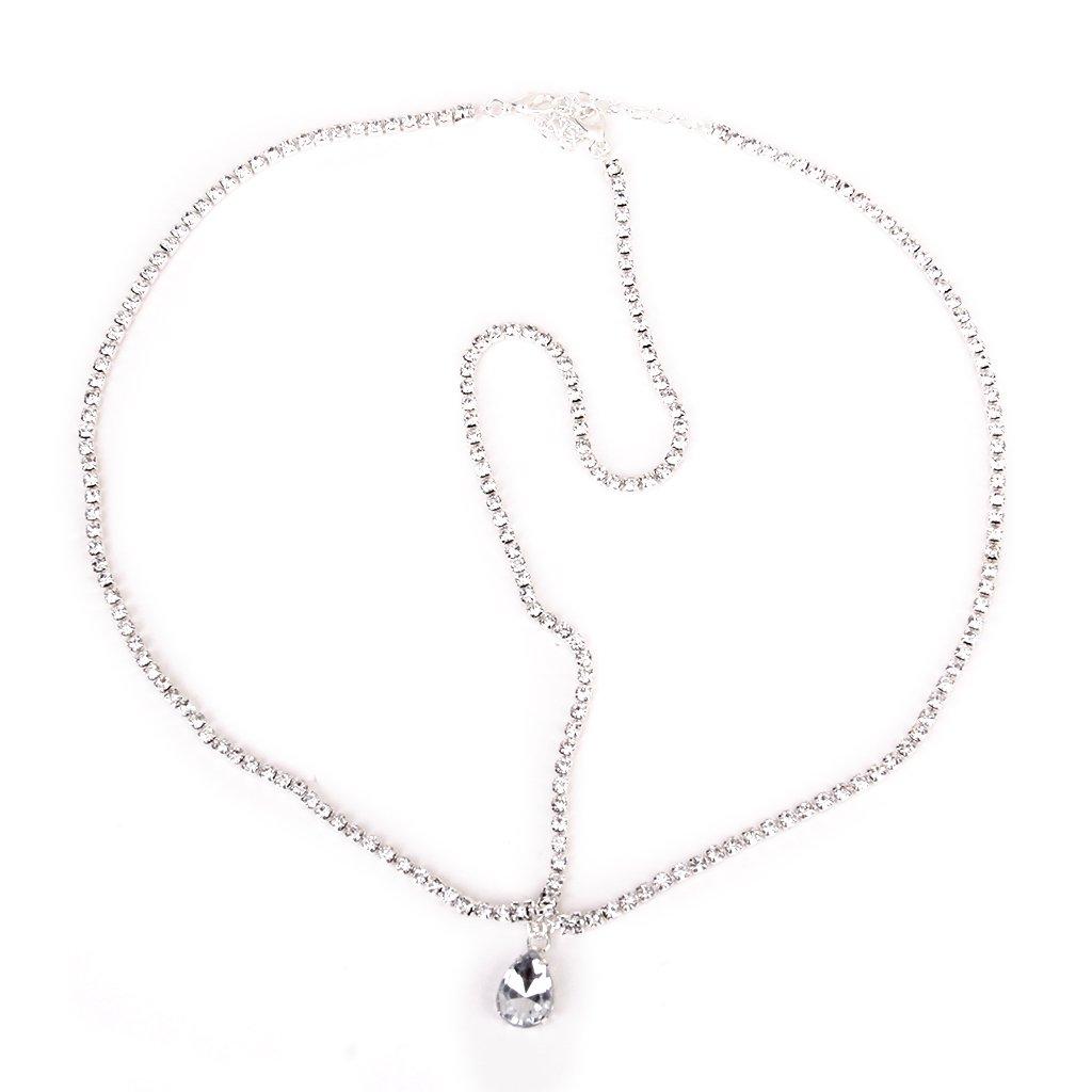Rhinestone Dangle Forehead Dance Hair Head Chain Headpiece Generic STK0113008534