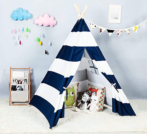 Steegic Foldable Cotton Children Playhouse Blue