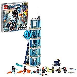 LEGO Marvel Avengers: Avengers Tower Battle 76166 Collectible Building Toy with Action Scenes and Superhero Minifigures…