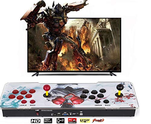 (Happybuy 1500 Classic Arcade Game Machine 2 Players Pandoras Box 9s 1280x720 Full HD Video Game Console with Arcade Joystick Support HDMI VGA Output)