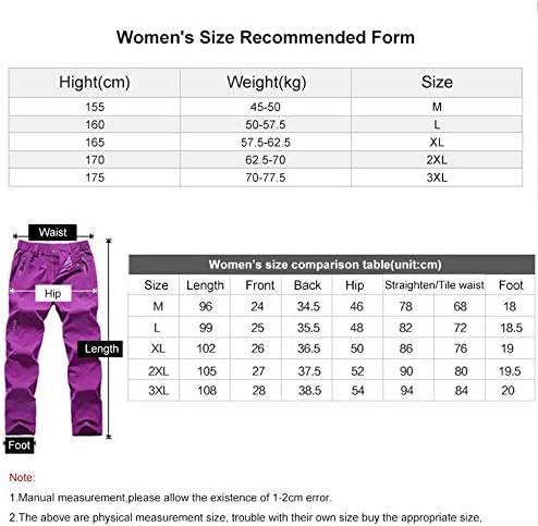AJSJ Pantalones de Senderismo para Mujer Verano de Secado ...