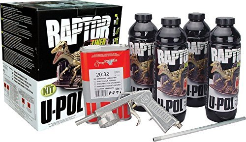 U-Pol Raptor TINTABLE Urethane Spray-On Truck Bed Liner Kit w/ GUN UPOL 821 (U Pol Raptor Truck Bed Liner Kit)