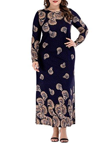 Zhuhaitf Formal Elegant Gown Printed Robe Islamic Kaftan Dresses For Muslims Women by Zhuhaitf
