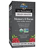 Garden of Life Dr. Formulated Organic Brain Health Memory & Focus for Teens and Young Aduls 60 Tablets