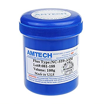 Souked 100 G AMTECH NC-559-ASM limpiar sin cable fundente para soldadura pasta de soldadura: Amazon.es: Electrónica