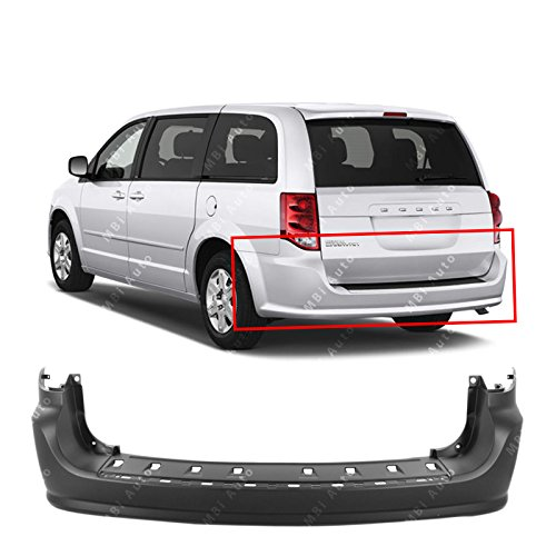 MBI AUTO - Primered, Rear Bumper Cover for 2011-2018 Dodge Grand Caravan 11-18, CH1100969