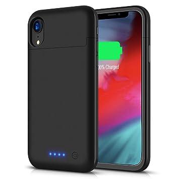 LCLEBM - Funda de batería para iPhone XR, 5500 mAh, Compatible con iPhone XR (6,1 Pulgadas), batería Recargable extendida, Color Negro